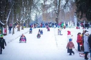 Сезон катання у Зимовому парку у розпалі