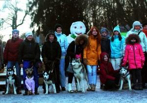 Зимовий парк став імпровізованою резиденцією хаскі