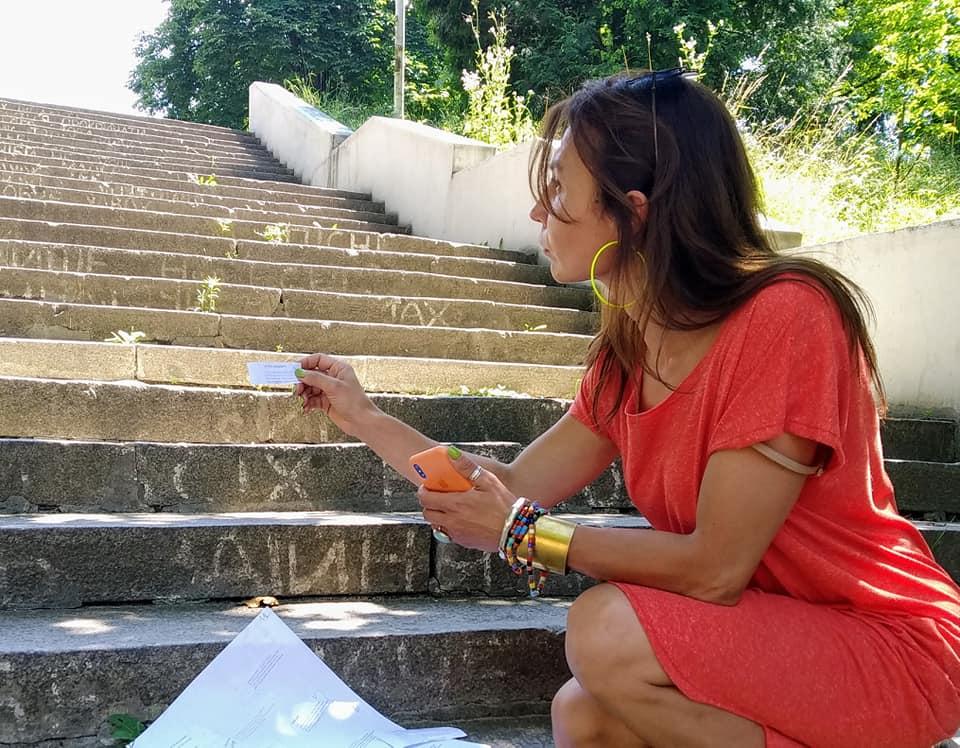 Вірші на сходах Парку